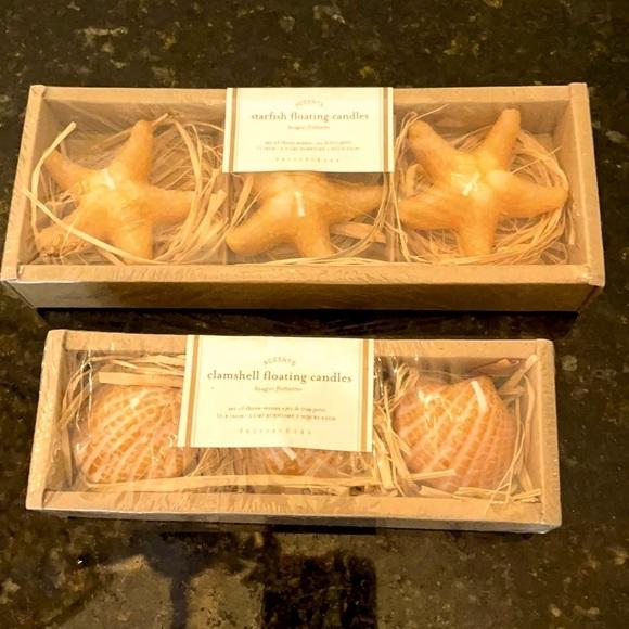 NEW 2 Pks of Pottery Barn Coastal Floating Candles
